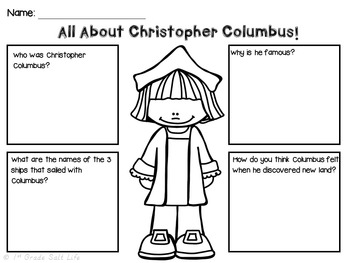 Christopher Columbus / Columbus Day Mini Unit and Activities