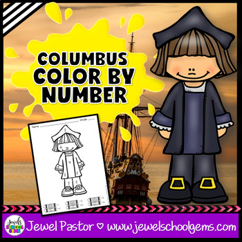 Christopher Columbus Day Activities (Christopher Columbus Color By Number)