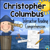 Christopher Columbus Reading Comprehension Interactive Book
