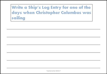Christopher Columbus Reading and Writing Activities