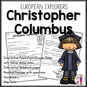 Christopher Columbus: 3rd grade Interactive PowerPoint