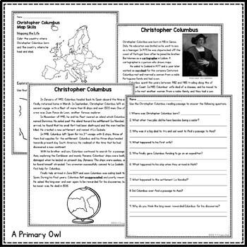 Christopher Columbus: 3rd grade Interactive PowerPoint