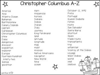 Christopher Columbus A-Z Book