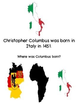 Christopher Columbus Adapted Book