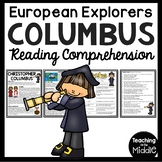 Christopher Columbus Biography Reading Comprehension; Columbus Day