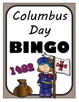 Christopher Columbus BINGO + 12 bonus pages of vocabulary words