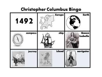 Christopher Columbus Bingo for Lower Grades