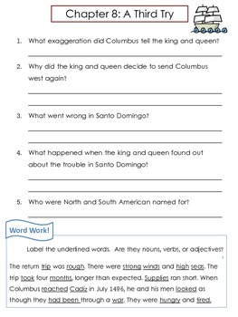 """Christopher Columbus Biography by Bader """"Who Was..."""" Comprehension Worksheets"""