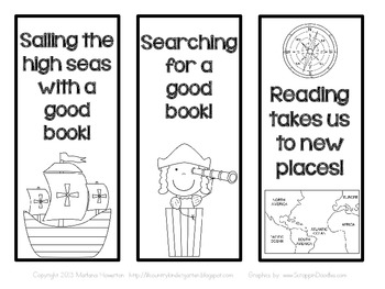 Christopher Columbus Bookmarks for Columbus Day