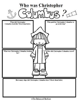 Christopher Columbus Character Study FREEBIE