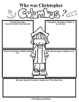 Christopher Columbus Character Study FREEBIE
