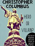 Christopher Columbus Character Study Center Activity: Hero or Villain?