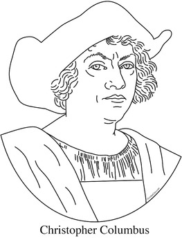 Christopher Columbus Clip Art, Coloring Page, or Mini-Poster by ...