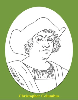 Christopher Columbus Clip Art, Coloring Page, or Mini-Poster