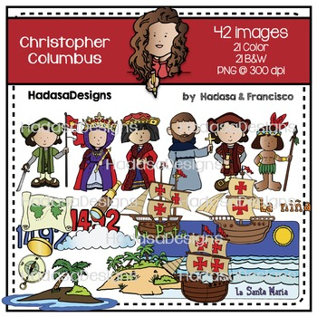 Christopher Columbus Clip Art Set