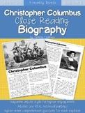 Christopher Columbus Close Reading Biography