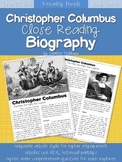Christopher Columbus Close Reading Biography
