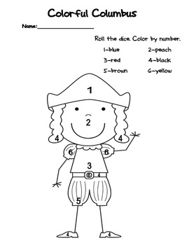 Christopher Columbus Color by Number
