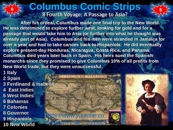Christopher Columbus Comic Strip Activity: engaging 18-slide PPT