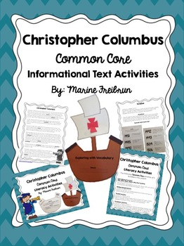 Christopher Columbus Common Core Informational Text Activities