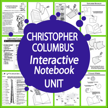 Christopher Columbus Spanish Explorer Interactive Notebook Unit