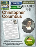 Christopher Columbus Biography Reading Comprehension Print