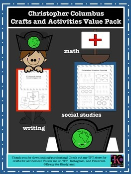 Christopher Columbus Craft and Activity Value Pack: Counting, Writing, Hat