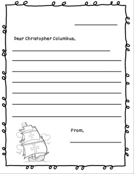 Christopher Columbus Craftivity & Printables