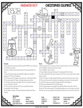 Christopher Columbus Crossword