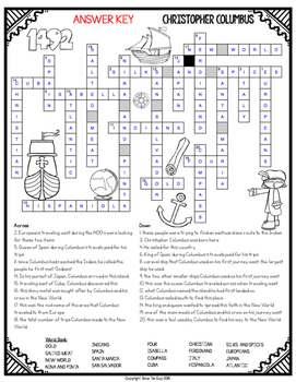 Christopher columbus crossword vocabulary for age of exploration freebie ibookread Download