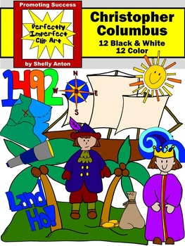 Columbus Day Clipart, Christopher Columbus Clipart, Social Studies Clipart