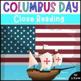 Christopher Columbus Day | Cloze Reading Activity | Digital