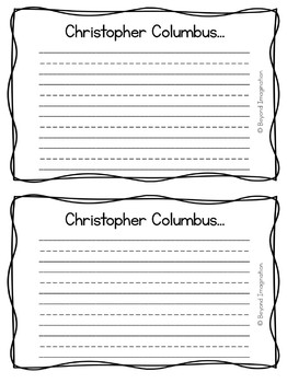 Constitution Day Christopher Columbus Day Craftivity with Writing Prompts