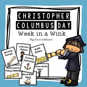 Christopher Columbus Day Bundle [Math, Literacy, Science,