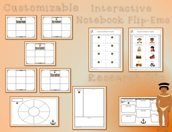 Christopher Columbus Day Research Tri-Folds & Graphic Organizers