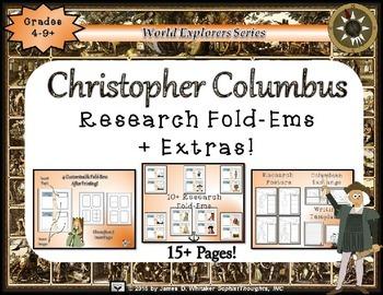 Christopher Columbus Day Research Tri-Folds & Mini Fold-Ems Bundle