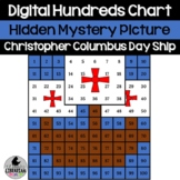 Digital Christopher Columbus Day Ship Hundreds Chart Hidde