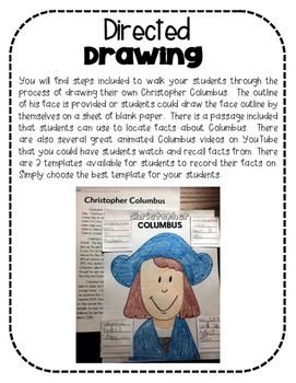 Christopher Columbus Directed Drawing