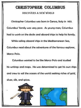 Christopher Columbus Discovers A New World