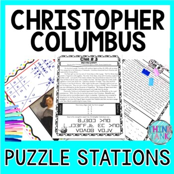 Christopher Columbus PUZZLE STATIONS Activity - Columbus Day