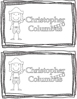 Christopher Columbus Emergent Reader