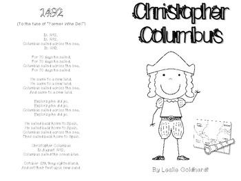 Christopher Columbus Emergent Reader