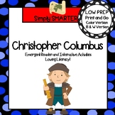 Christopher Columbus Emergent Reader Book AND Interactive Activities