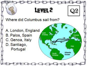 Christopher Columbus: Escape Room - Social Studies