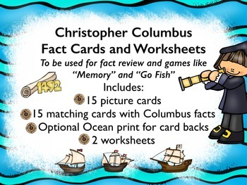 Christopher Columbus Fact Cards - For Games and Review