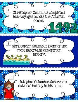 Christopher Columbus Fact Or Opinion?  [Literacy Center]