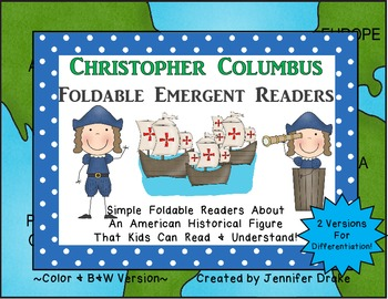 Christopher Columbus Foldable Emergent Readers ~2 Versions