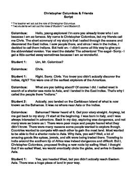 Christopher Columbus & Friends Script