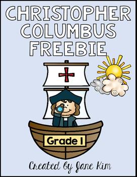 Columbus Day Grade 1 FREEBIE