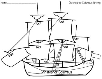 Christopher Columbus - Writing Activity
